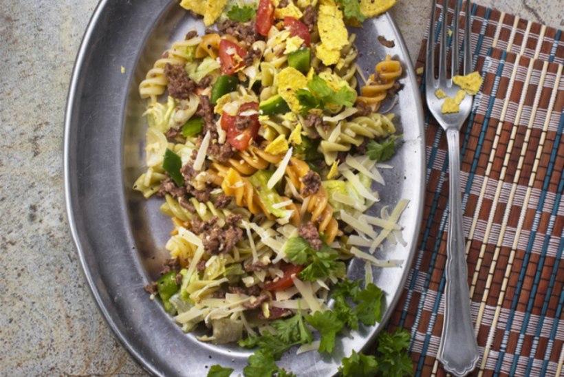 Taco-pasta salat