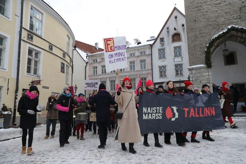 Галерея: в Таллинне прошел марш за свободу прав женщин