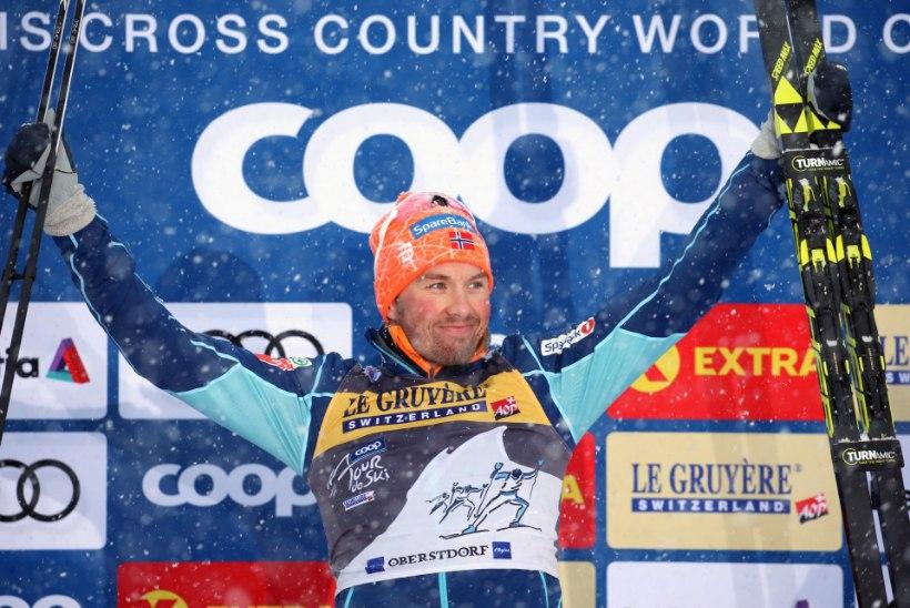 Tour de Ski: rasketest oludest väljus võitjana Iversen, Tammjärv napilt punktidelt väljas