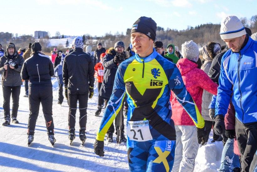PÄEVAPILT   President Kaljulaid uisutas Mulgi maratonil