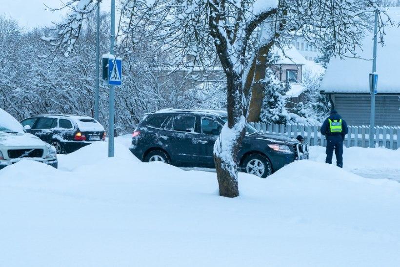 FOTOD | Kuressaares sai laps ülekäigurajal kahelt autolt löögi