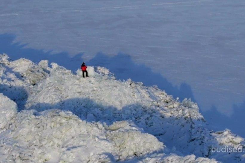 TV3 VIDEO | VÄGEV VAATEPILT: loodus on Peipsi järvele tekitanud võimsad jääkuhilad
