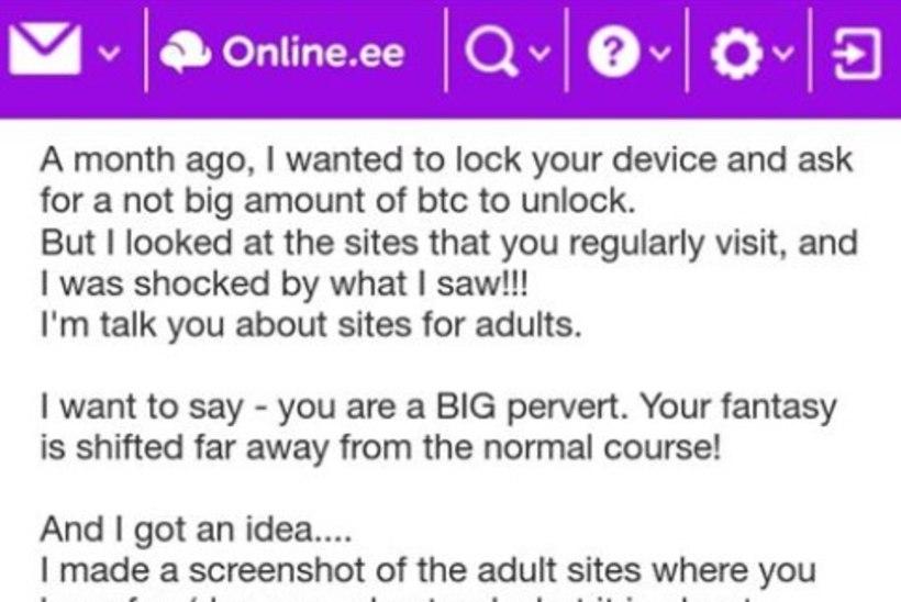 Veebikonstaabel hoiatab pornopaljastusega ähvardava õngitsuskirja eest