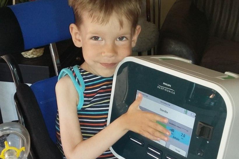 4aastane poiss sai lastefondi abil köhimisaparaadi