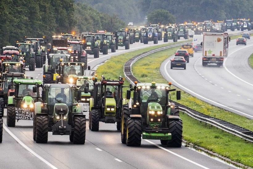 FOTOUUDIS | Traktoriprotest vallandas Hollandi ajaloo suurima liiklusummiku