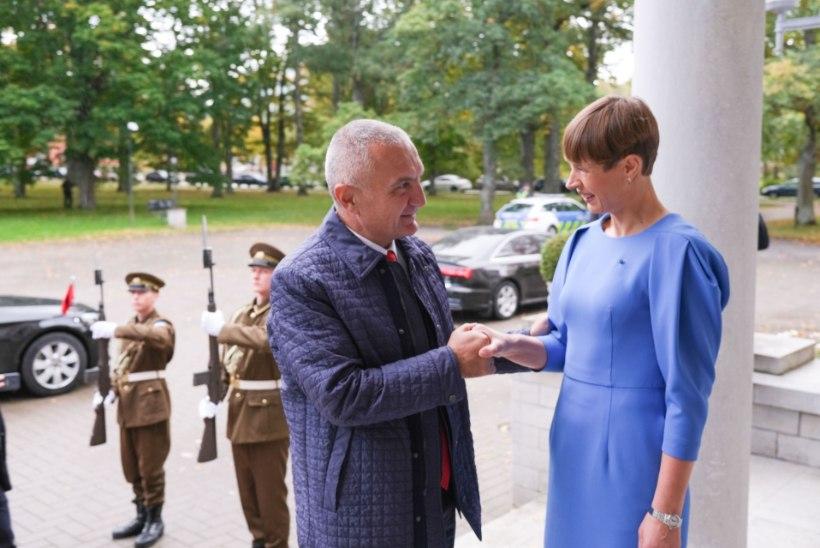 FOTOD | President Kaljulaid kohtus Albaania riigipeaga