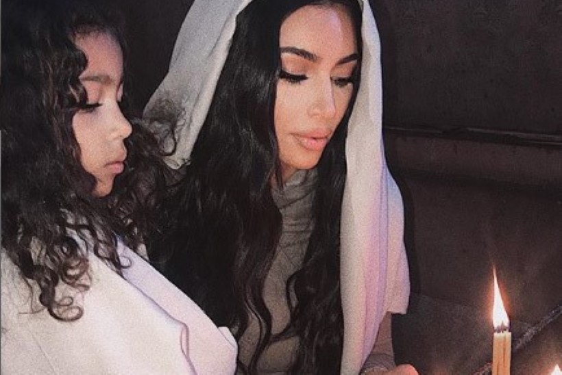 Kim Kardashian lasi ennast ja lapsi Armeenias ristida