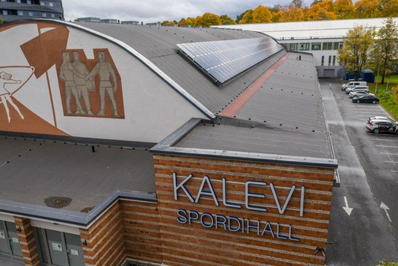 UUENDUS: Kalevi spordihalli katvad päikesepaneelid annavad tublisti energiat