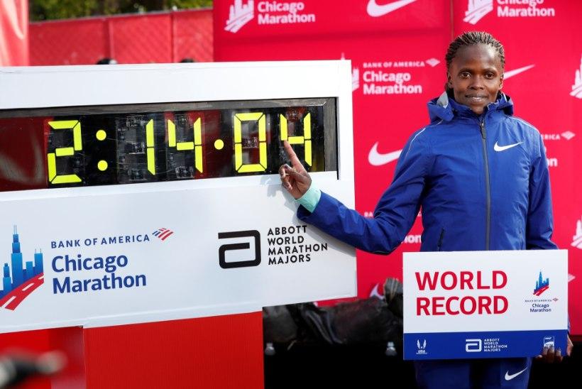 Täna püsitati maratoni maailmarekord