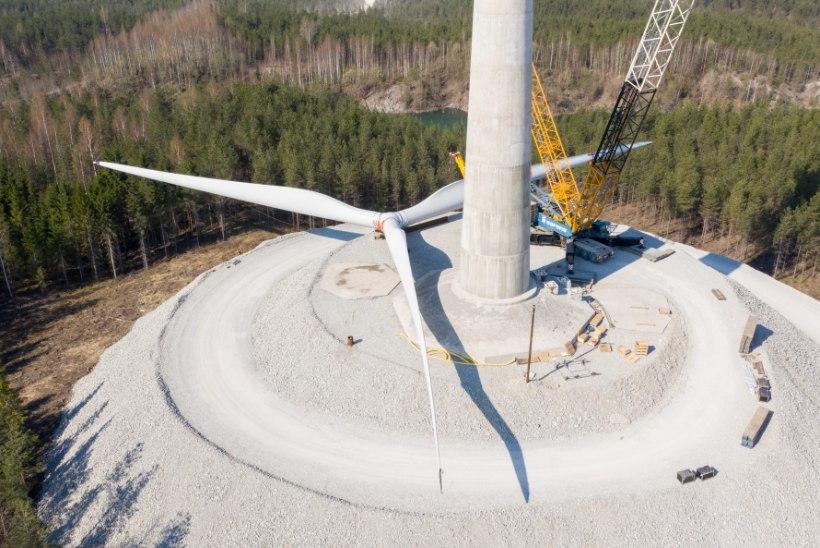 EHITUS JÄTKUB: Aidu tuulepargis löödi üle pika aja taas kopp maasse