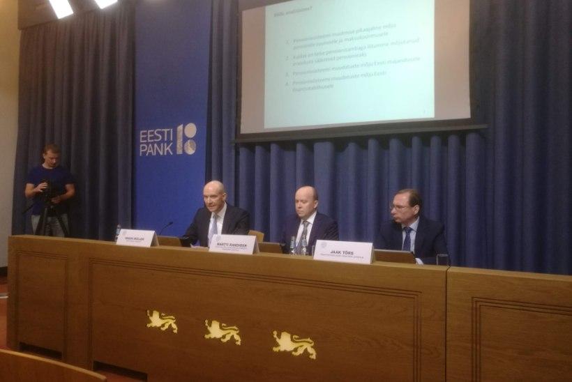 Eesti Panga uuring paljastab pensionireformi varjupoole: eestlaste elujärje halvenemine on tõenäoline