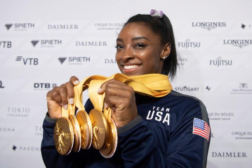 Kõigest 22aastane USA sportvõimleja tegi MMilt võidetud 25. medaliga ajalugu