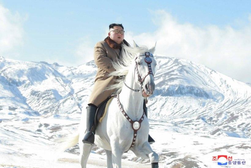 FOTOD | Põhja-Korea liider ratsutas lumivalgel hobusel pühale mäele