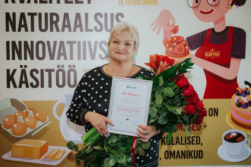 SÜDAMEGA KOOGIMEISTER: telestaar Carmen Pritsoni ema sai Eesti toidu südamega tegija tiitli