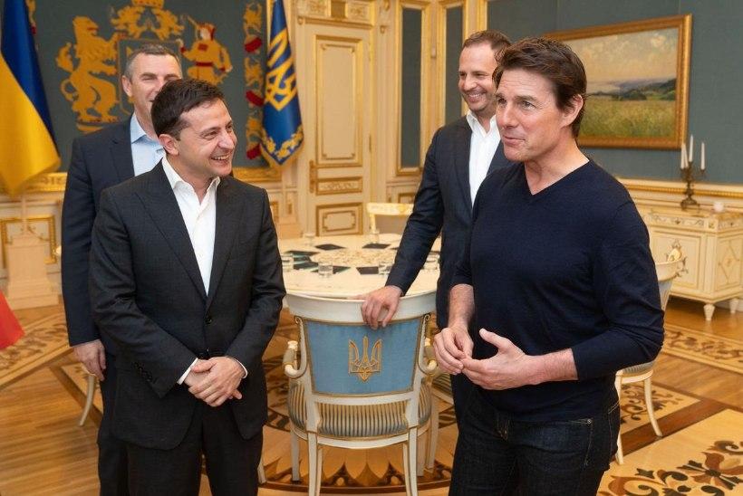 VIDEO | Tom Cruise kohtus uue filmi asjus Ukraina presidendiga