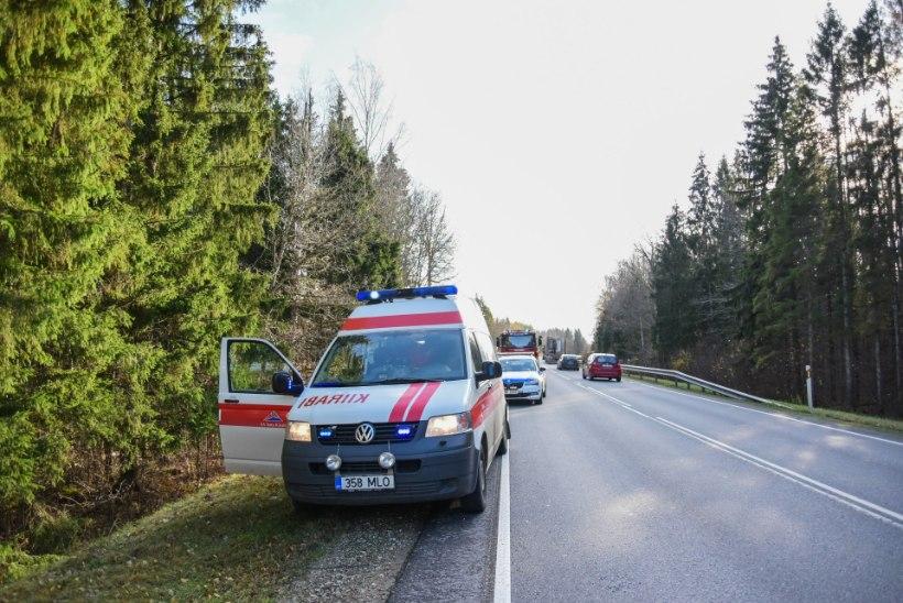 VIDEO JA FOTOD | Viljandimaal sõitis auto teelt välja