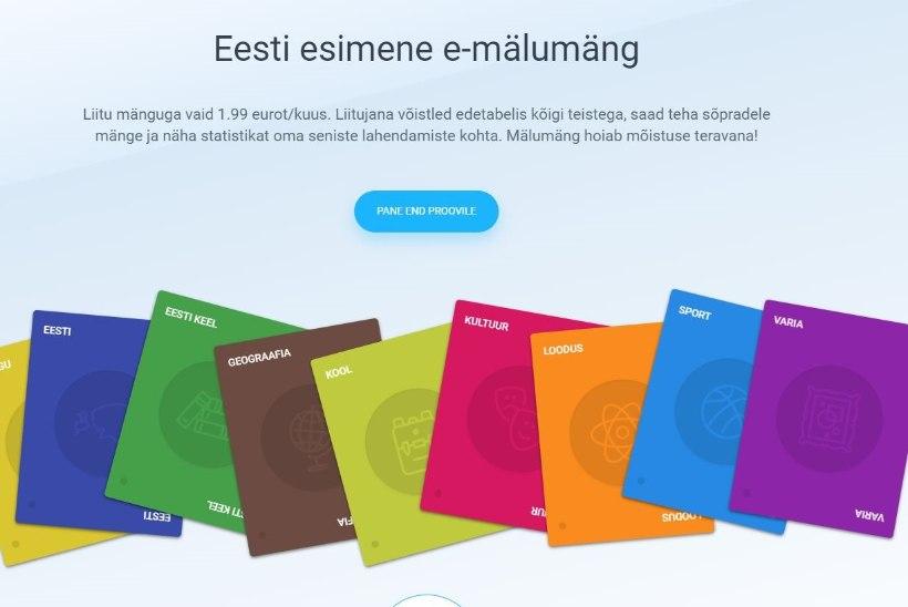 Tutvu Eesti esimese e-mälumänguga!