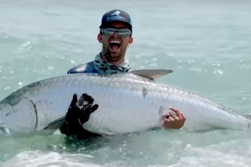 VIDEO | USA kalamees tabas poolesajakilose saagi drooni abiga