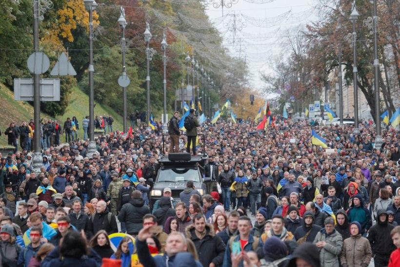 10 000 inimest tuli Kiievis protestimeeleavaldusele