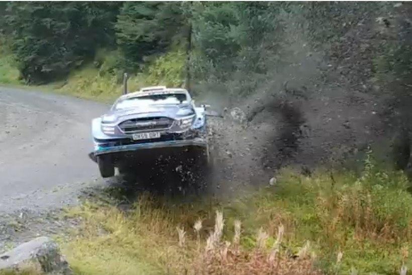 VIDEO | KRAHH! Kõik kolm Soome WRC-meest lõhkusid Walesis masina