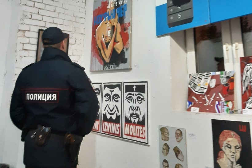 Politsei ei lasknud Moskvas avada Putini-vastast näitust