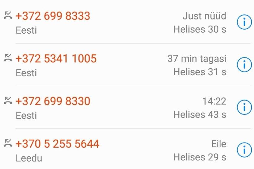 ETTEVAATUST! Leedu telefonipetised ründavad jätkuvalt Eesti numbritelt