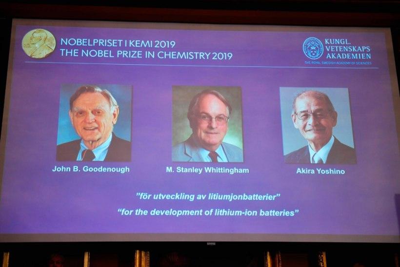 Nobeli keemiaauhind läks kolmele liitiumioonaku arendajale