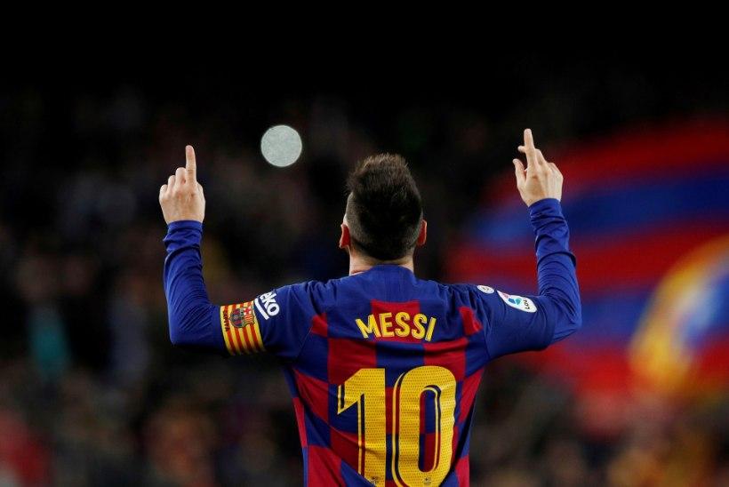 VIDEO | Imelise kübaratriki teinud Messi kordas Ronaldo rekordit ja tõstis Barcelona liidriks