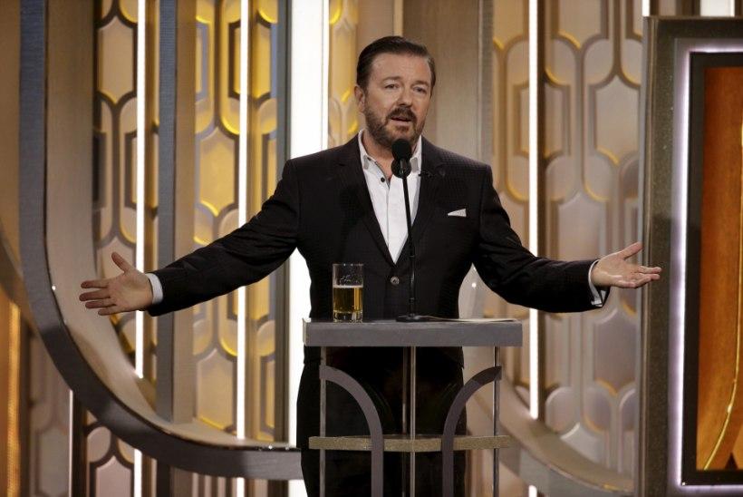Koomik Ricky Gervais purustas Kuldgloobuste rekordi