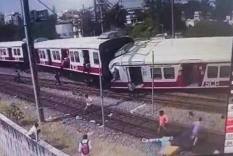 VIDEO | Valvekaamera jäädvustas kahe rongi kokkupõrke