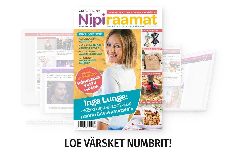 NOVEMBRIKUU NIPIRAAMAT | Loe nüüd ajakirja ka veebis!