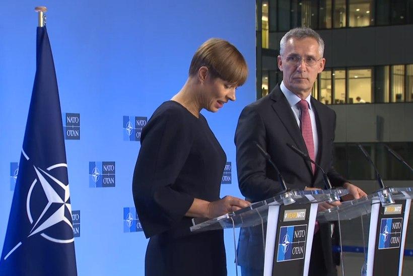President Kaljulaid kohtumisel NATO peasekretäriga: Eesti panustab julgeolekusse, mitte üksnes ei tarbi seda