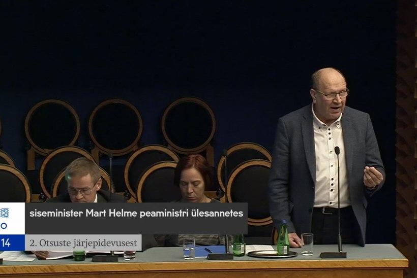 """Mart Helme selgitas riigikogu infotunnis, mida tema """"plaan b"""" sisaldab"""