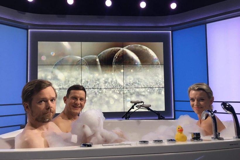 MIS TOIMUB? Ott Sepp, Jan Uuspõld ja Grete Lõbu veetsid vallatu reede õhtupooliku koos vannis!