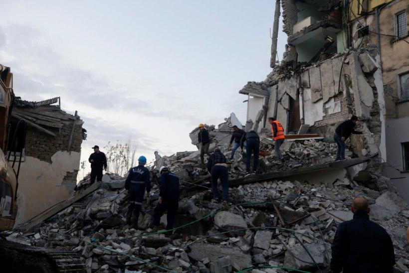 Albaaniat tabas tugev maavärin, hukkunute arv on tõusnud 28ni