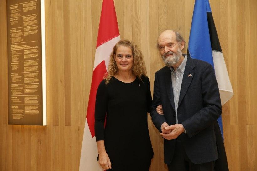 FOTOD   Eestis viisidil viibiv Kanada kindralkuberner ja endine astronaut Julie Payette kohtus Arvo Pärdiga