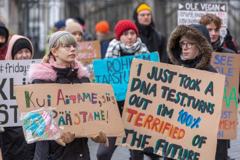 GALERII JA REPORTAAŽ | Streik kliimasoojenemise vastu ei jätnud kedagi külmaks