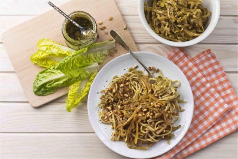Pestospagetid kapsaga