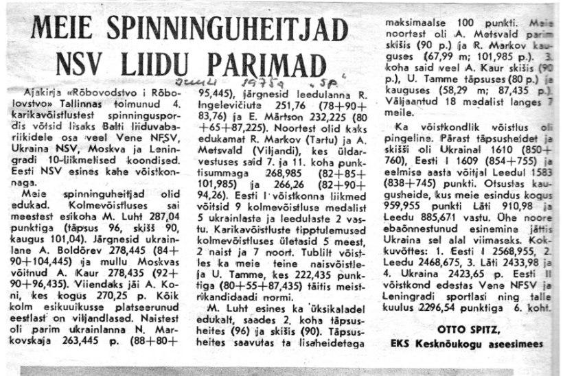 VETERANKALAMEES KATENEVI PÄEVIKUD: aasta 1975