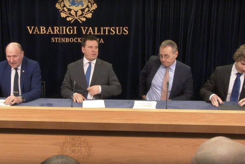 VIDEO | Valitsuses annavad aru Jüri Ratas, Mart Helme, Tanel Kiik ja Tõnis Lukas