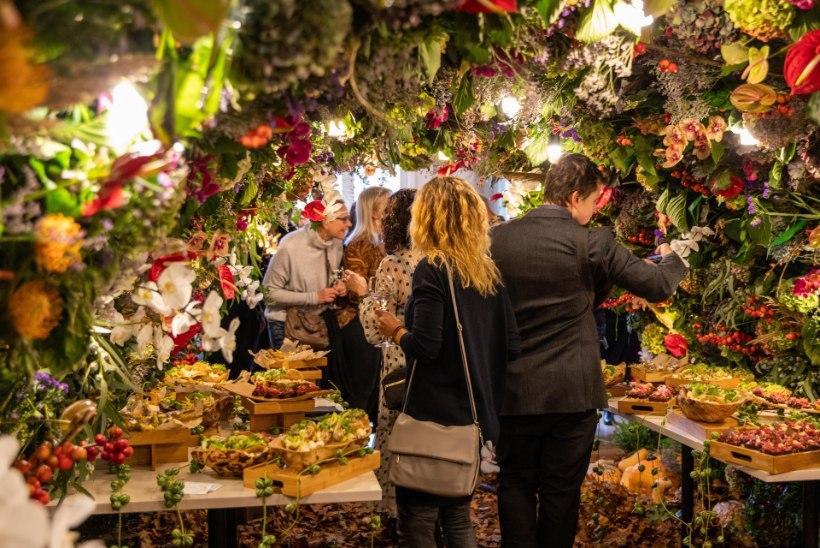 GALERII | Kadriorus avati sajandivanuses villas tuhandetest elus lilledest loodud skulptuur