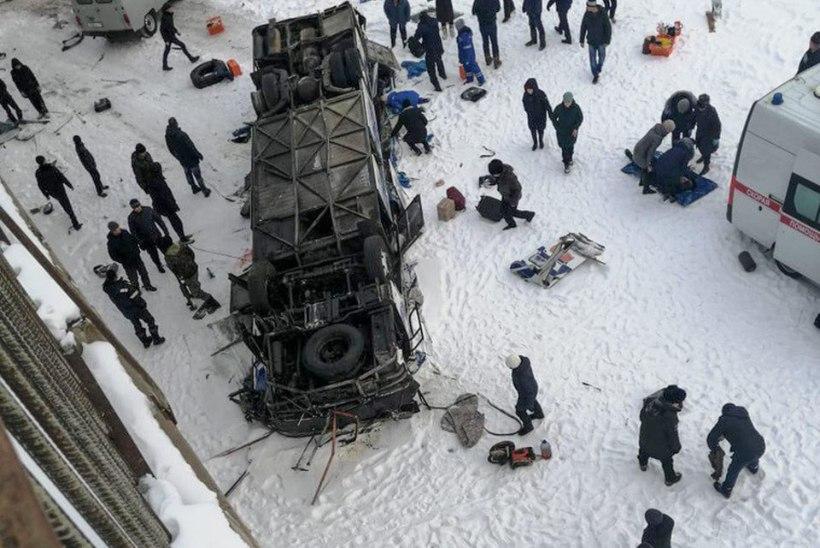 Rängas bussiõnnetuses Venemaal hukkus 19 inimest