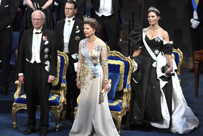 PALJAD ÕLAD JA BRILJANDISADU: Rootsi printsessid vajutasid Nobeli galal glamuuripedaali põhja