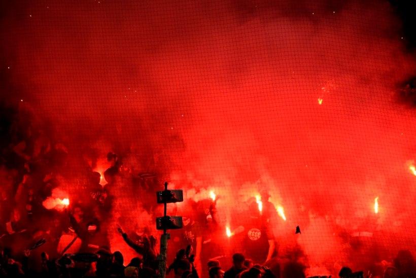 VIDEO   Vana-aastaõhtu või jalgpallimäng? Prantsuse klubi fännide tohutu tulesõu tõi klubile karistuse