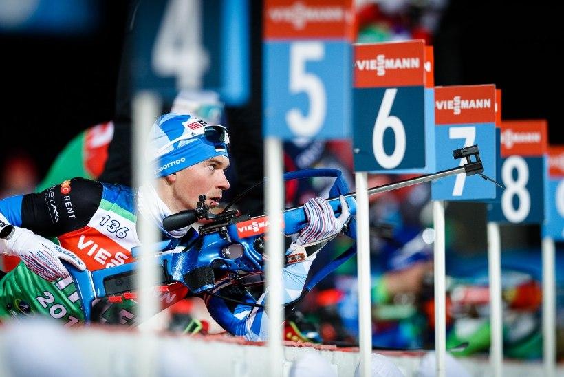Johannes Thingnes Bö ei võitnudki, Ränkel on endiselt lasketiirus suures hädas, teised eestlased kimpus suusarajal