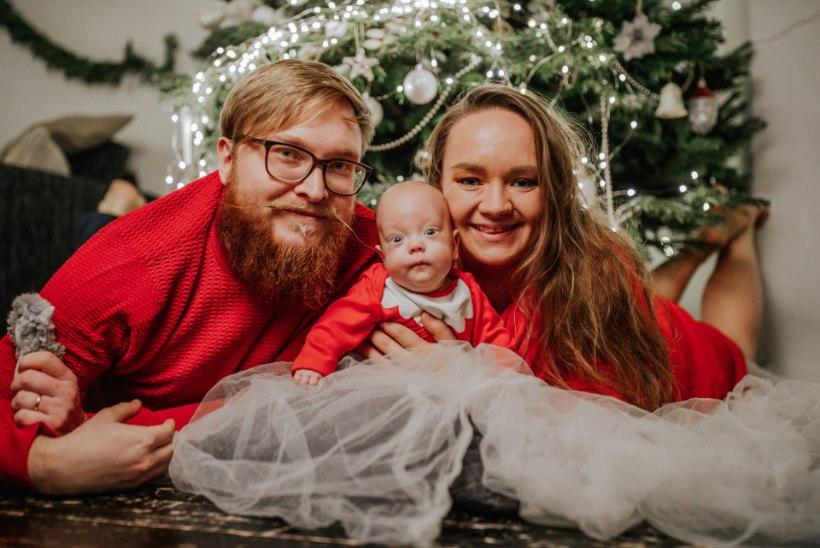 888grammise sünnikaaluga Sebastian kosub jõudsalt ja imetleb jõulutulesid