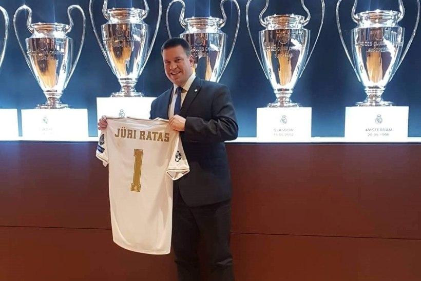 FOTOD   Kõva sõna! Peaminister Jüri Ratas külastas Madridi Reali staadionit ning sai omanimelise mängusärgi