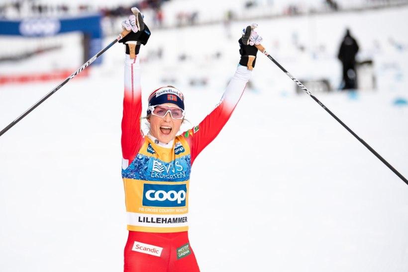 Therese Johaug edestas konkurente taas kalendriga, kuid Venemaa mehed maksid Norrale valusalt kätte