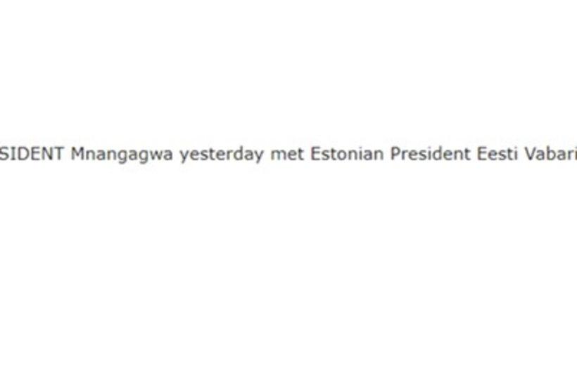 """Zimbabwe ajakiri: """"Eile kohtus president Mnangagwa Eesti president Eesti Vabariigiga."""""""