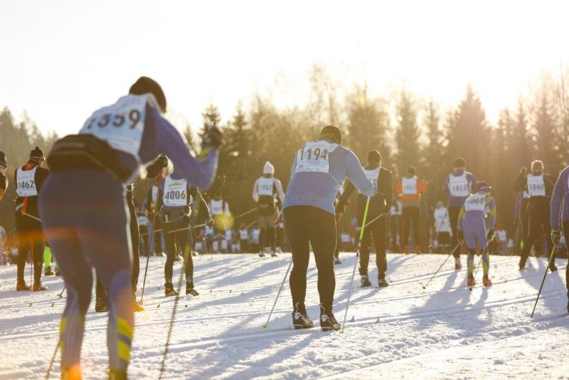 GALERII | Suusapidu Lõuna-Eestis: Tartu maratoni võit läks Soome, parim eestlane esikümne lõpus